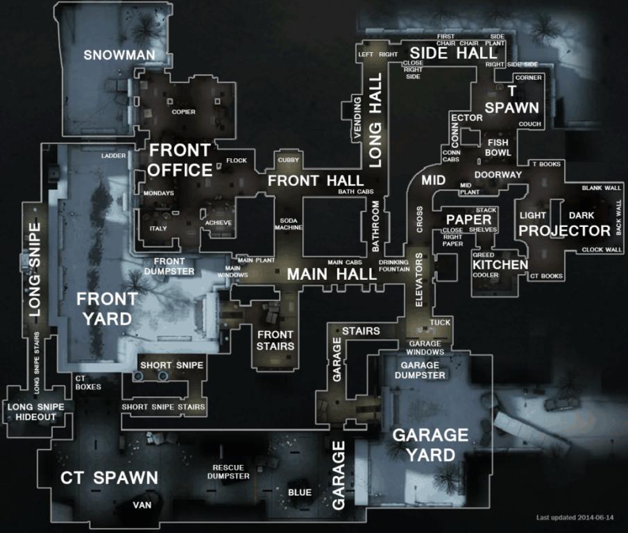позиций на карте CS Office
